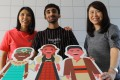 (L to R) Mabel Lo, head of services at TREATS, university student Ravinder Singh, and Kris Tong, executive director at TREATS, in Chai Wan. Photo:Dickson Lee