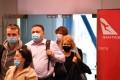 Passengers disembark a Qantas flight to Sydney from Melbourne on Monday. Photo: DPA