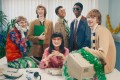 Gucci is going all awkward office party for its festive Gift Giving campaign. Photos: Gucci