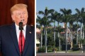 Donald Trump's beloved Mar-a-Lago Florida estate costs a fortune to maintain – and so does his hair, it seems. Photos: @legit.ng/Instagram; @KayAnneSacto/Twitter