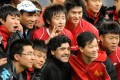 Diego Maradona attends a charity football match at the Jinan Olympic Sports Centre on November 5, 2010 in Jinan, China. He was a frequent visitor to the country, but turned down an offer in 1987 from Chinese leader Deng Xiaoping to play there, according to former Italian prime minister Romano Prodi. Photo: Getty Images