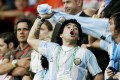 Argentine football star Diego Maradona at the Argentina vs Holland game during the 2006 Fifa World Cup in Germany. Photo: Action Images via Reuters