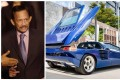 The Sultan of Brunei and his 1993 Cizeta V16T supercar, now on sale for more than US$700,000. Photos: @HassanalBolkia4/Twitter, Curated