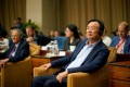 Huawei founder Ren Zhengfei attends a panel discussion at the company's headquarters in Shenzhen, China on June 17, 2019. Photo: Reuters