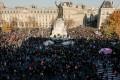 People gather on the Place de La Republique square in Paris for a protest against a draft security law. Photo: AFP