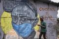 A mural in Nairobi, Kenya warns people about the risk of the coronavirus. Photo: AP