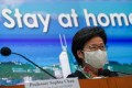 Hong Kong Chief Executive Carrie Lam Cheng Yuet-ngor has denied moving too slowly to impose tough coronavirus measures. Photo: Felix Wong