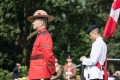Ben Chang (left), who was the Royal Canadian Mounted Police liaison officer in Hong Kong, attending the Canadian Commemorative Ceremony at the Sai Wan War Cemetery in December 2017. Photo: Global Affairs Canada
