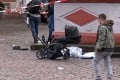 A damaged pram is seen at the scene where a car drove into pedestrians in Trier, Germany on Tuesday. Photo: Steil-TV via AFP