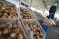 Abalone believed headed to Shenzhen is displayed after its seizure in an anti-smuggling operation on Thursday. Photo: Felix Wong