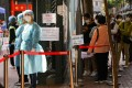 People queue up for community virus testing at the Yau Ma Tei Community Centre on December 3. Photo: Dickson Lee