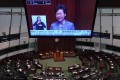 Chief Executive Carrie Lam Cheng Yuet-ngor holds forth in a calm and orderly Legco on November 26. Photo: Felix Wong