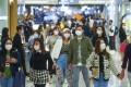 People wearing face masks at a shopping centre in Tsim Sha Tsui. Photo: Winson Wong