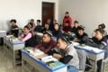 Islamic studies students attend a class at the Xinjiang Islamic Institute during a government-organised trip in Urumqi, Xinjiang Uygur autonomous region, China. Photo: Reuters