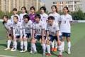 The women's team of Fuzhou University ahead of a game. Photo: Fuzhou University