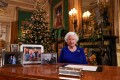 Queen Elizabeth after recording her annual Christmas Day message in Windsor Castle, London, on Christmas Eve in 2019. Photo: AFP