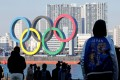 Giant Olympic rings at Tokyo's Odaiba Marine Park. The Summer Olympic Games are expected to begin on July 23. Photo: Reuters