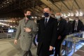 French ministers Olivier Dussopt (right) and Clement Beaune visit the Eurostar terminal in Gare du Nord, Paris. Photo: AFP