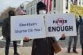 A protest on Wednesday in Washington over a tweet by Senator Marsha Blackburn. Photo: Mark Magnier