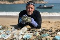 Gary Stokes, operations director with Hong Kong-based marine conservation organisation OceansAsia, says that plastic consumption has risen significantly worldwide due to the pandemic, with single-use Covid-19 face masks now posing a huge environmental threat to the planet. Photo: Courtesy of OceansAsia