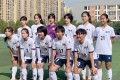 The women's soccer team of Fuzhou University ahead of a game. A women's team from the university had to forfeit a match this month because too many of the players had dyed hair. Photo: Fuzhou University