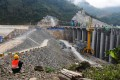 A hydropower dam under construction on the Mekong River in Laos pictured in January 201. Photo: Shutterstock