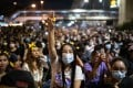 Pro-democracy demonstrators occupy an intersection in Bangkok during an anti-government protest. Photo: DPA