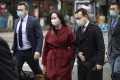 Meng Wanzhou, chief financial officer of Huawei, leaves the Supreme Court of British Columbia on Friday during a break from a hearing in Vancouver. Photo: AP