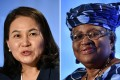 South Korea's Yoo Myung-hee and Nigeria's Ngozi Okonjo-Iweala are the last two remaining candidates to become the next director general of the World Trade Organization (WTO). Photo: AFP