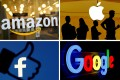 """Amazon, Apple, Facebook and Google are among tech giants that """"should have greater responsibilities"""" in Europe, including closely monitoring their platforms for the spread of misinformation and illegal uses. Graphic: Reuters"""