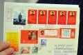 A 1968 airmail letter with various stamps of Chairman Mao Zedong. China's collectibles market has been blighted by inflated values for rare artefacts. Oriental Culture hopes that more listings by online art and collectibles platforms will improve the credibility of the sector. Photo: AFP