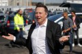 Tesla's CEO Elon Musk at the construction site of his factory in Gruenheide near Berlin on September 3, 2020. Photo: AFP