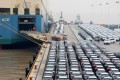Geely Automobile Holdings' cars queue to enter a cargo vessel at Ningbo Zhoushan port in Zhejiang province on January 2, 2019, bound for export. Photo Reuters