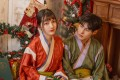 Models in a Christmas setting wear Hanfu – Chinese traditional costumes – with a Christmas theme from online shop Guanzhi Weavings. Photo: Tan Ningijng