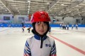Eight-year-old speed skater Ma Zihui at the Beijing training centre after her come-from-behind win in the 500m short track quarter-finals. Photo: Wang Hao/yqqlm
