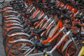 Mobike bicycles parked on the street in the Futian district in Shenzhen in 2019. Photo: SCMP / Roy Issa
