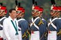 Philippines President Rodrigo Duterte reviews military cadets. Photo: Reuters