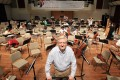 Richard Pontzious, co-founder of the Asian Youth Orchestra, at a practice session at the Hong Kong Academy for Performing Arts in 2012. Tributes have been paid to the American, who died at the aged of 76. Photo: Jonathan Wong