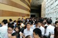 More than 1,000 home buyers queued for the chance to get their hands on four apartments at Chinachem's Parc City on September 5, 2017. Photo: Peggy Sito