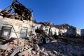The aftermath of the earthquake in Petrinja, Croatia. Photo: AFP