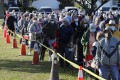 Cape Coral, Florida residents wait in line to receive a Covid-19 vaccine. Photo: AP