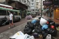 Rubbish left on the street in Causeway Bay. Hong Kong has made little progress on recycling or waste reduction. Photo: Nora Tam