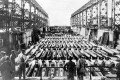 Members of a US military inspection team visit a dry dock at the Kure Naval Arsenal in Hiroshima. Photo: US Navy