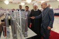 Iranian President Hassan Rowhani on Iran National Nuclear Technology Day in Tehran. Photo: EPA