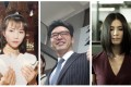 Hong Kong celebrities who were once in financial ruin: Ada Choi, Kenny Bee and Charlie Yeung. Photos: SCMP Archive, Edko Films Ltd/Kingmart Advertising Company