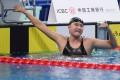 Wang Jianjiahe celebrates after winning the women's 1,500m at the 2020 national championships in Qingdao in September. Photo: Xinhua