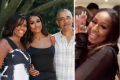 Sasha Obama with parents Michelle and Barack, and a still from her viral TikTok video. Photo: @michelleobama/Instagram, @pixiestick222/TikTok