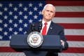 US Vice-President Mike Pence visits Rock Springs Church in Georgia on Monday to campaign for Republican Senate candidates. Photo: AFP