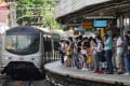 Passengers wait for an MTR train in Hong Kong. Photo: Sam Tsang