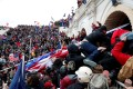 Pro-Trump protesters storm into the US Capitol in Washington. Photo: Reuters